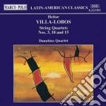 Villa-lobos Heitor - Quartetto X Archi N.3, N.10, N.15 cd musicale di Villa lobos heitor