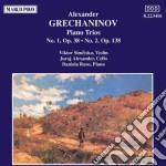Grechaninov Alexander - Trio X Pf N.1 Op.38, N.2 Op.138  - Ruso Daniela  Pf/juraj Alexander Vlc, Viktor Simcisko Vl. cd musicale di Alexande Grechaninov