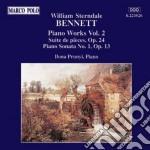 Bennett - Musica X Pf Vol.2: Suite De Pieces Op.24, Sonata X Pf N.1 Op.13 cd musicale di BENNETT