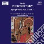 SINFONIA N.2 OP.26, N.3 OP.50 cd musicale di Boris Lyatoshynsky