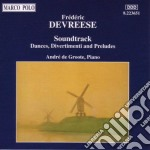 SOUNDTRACK (DANZE, DIVERTIMENTI E PRELUD cd musicale di DEVREESE