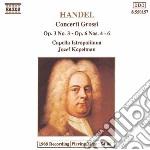 Handel Georg Friedrich - Concerto Grosso N.3 Op.3, N.4, N.5, N.6op.6 cd musicale di Jozef Kopelman