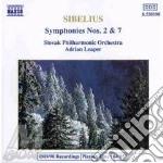SINFONIA N.2 & N.7 & ORCHESTRA FILARMONI cd musicale di Jean Sibelius