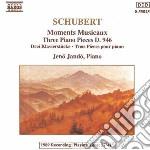 Schubert Franz - Momenti Musicali Op. 94 D 780, 3 Pezzi X Pf D 946 cd musicale di Jeno Jando
