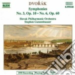 Dvorak Antonin - Sinfonia N.3 Op.10, N.6 Op.60 cd musicale di Antonin Dvorak