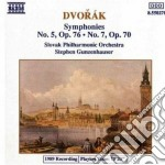 SINF.N.5 OP.76-N.7 OP.70 cd musicale di Antonin Dvorak