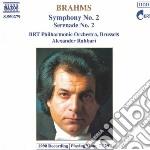 Brahms Johannes - Sinfonia N.2 Op.73, Serenata N.2 Op.16 cd musicale di Alexsander Rahbari