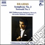 Brahms Johannes - Sinfonia N.3 Op.90, Serenata N.1 Op.11 cd musicale di Johannes Brahms