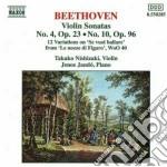SONATA X VL N.4 OP.23, N.10 OP.96, 12 VA cd musicale di Beethoven ludwig van