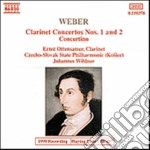 Weber Carl Maria Von - Concerto X Clarinetto E Orchestra N.1 Op.73, N.2 Op.74, Concertino Op.26 cd musicale di Johannes Wildner
