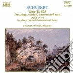 Schubert Franz - Ottetto D 803, Ottetto X Fiati D 72 cd musicale di Franz Schubert
