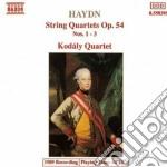 QUARTETTO X ARCHI N.1, N.2, N.3 OP.54 cd musicale di Haydn franz joseph