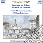 Tchaikovsky - Serenade For Strings Op.48, Souvenir De Florence Op.70 - Vienna Chamber Orchestra cd musicale di Ciaikovski pyotr il'