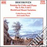 Beethoven Ludwig Van - Sonatper Violoncello N.1, N.2 Op.5, Variazioni Woo 45, Op.66, Woo 46 cd musicale di Beethoven ludwig van