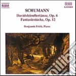 Schumann Robert - Davidsbundlertanze Op.6, Fantasiestuckeop.12 cd musicale di Robert Schumann