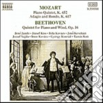 Mozart Wolfgang Amadeus - Quintetto X Pf E Fiati K 452, Adagio E Rondo' K 617 cd musicale di Wolfgang Amadeus Mozart