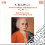 Bach Carl Philipp Emanuel - Sonate Per Flauto Wq 83-87 cd musicale di BACH CARL PHILIP EMA