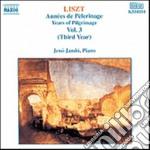 ANNI DI PELLEGRINAGGIO VOL.3 (TERZO ANNO cd musicale di Franz Liszt