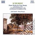 Schubert Franz - Composizioni X Pf A 4 Mani: Labenssturme D 947, 2 Marce Caratteristiche D 6, Div cd musicale di JANDO JENO/PRUNYI ILONA