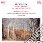 CONCERTO X PF E ORCHESTRA N.2 OP.16, N.5 cd musicale di Sergei Prokofiev