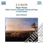 Bach J.S. - Concerto Italiano Bwv 971, Fantasia E Fuga Bwv 904, 12 Piccoli Preludi, ... cd musicale di Janos Sebestyen