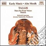 MESSA A 4 VOCI, MOTTETTI SACRI cd musicale di Thomas Tallis