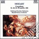Mozart Wolfgang Amadeus - Cassazione K 63, K 99, K 100 cd musicale di Wolfgang Amadeus Mozart