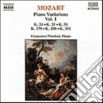 Mozart Wolfgang Amadeus - Variazioni X Pf Vol.1: K 24, 25, 54, 179, 180, 354 cd musicale di Wolfgang Amadeus Mozart