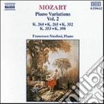 Mozart Wolfgang Amadeus - Variazioni X Pf Vol.2: K 264, 265, 352,353, 398 cd musicale di Wolfgang Amadeus Mozart