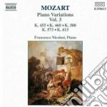 Mozart Wolfgang Amadeus - Variazioni X Pf Vol.3: K 455, 460, 500,573, 613 cd musicale di Wolfgang Amadeus Mozart