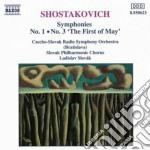 SYMP.N.1/N.3-FIRST OF MAY cd musicale di Dmitri Sciostakovic