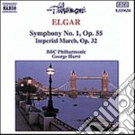 Elgar Edward - Sinfonia N.1 Op.55, Imperial March Op.32 cd musicale di Edward Elgar