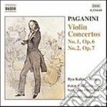 Paganini Niccolo' - Concerto Per Violino N.1 Op.6, N.2 Op.7 cd musicale di Niccolo' Paganini