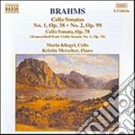 SONATA X VLC N.1 OP.38, N.2 OP.99, OP.78 cd musicale di Johannes Brahms