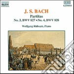 Bach Johann Sebastian - Partita N.3 Bwv 827, N.4 Bwv 828 cd musicale di Wolfgang Rubsam