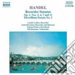 Handel Georg Friedrich - Sonate X Fl N.2, N.4, N.7, N.11 Op.1, Hv 376a, Minuetto Hv 603, Gavotta Hv 604, cd musicale di Handel georg friedri