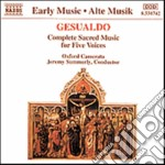MUSICA SACRA A 5 VOCI (INTEGRALE) cd musicale di GESUALDO