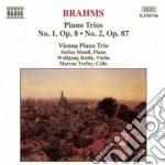 Brahms Johannes - Trio X Pf E Archi N.1 Op.8, N.2 Op.87 cd musicale di Johannes Brahms