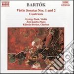 Bartok Bela - Sonate Per Violoino, Contrasti Op.111 cd musicale di Bela Bartok