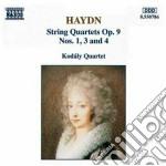 Haydn Franz Joseph - Quartetto X Archi N.1, N.3, N.4 Op.9 cd musicale di Haydn franz joseph