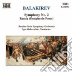 SINFONIA N.2, RUSSIA (POEMA SINFONICO) cd musicale di BALAKIREV MILY ALEXE