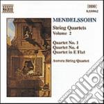 Mendelssohn Felix - Quartetti X Archi Vol.2: Quartetto N.1 Op.12, N.4 Op.44 N.2, In Mib Mag. cd musicale di Felix Mendelssohn