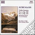 Schumann Robert - Sonata X Vl N.1 Op.105, N.2 Op.121, Intermezzo Dalla Sonata F.a.e. cd musicale di Robert Schumann