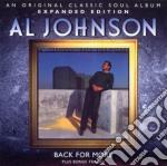 Al Johnson - Back For More cd musicale di Johnson Al