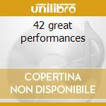 42 great performances cd musicale