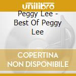 THE BEST OF cd musicale di LEE PEGGY