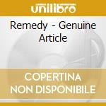 THE GENUINE ARTICLE cd musicale di REMEDY