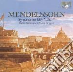 Mendelssohn Felix - Sinfonie Nn.1 E 4 'italiana' cd musicale di Mendelssohn