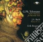 Telemann Georg Philip - Dodici Fantasie Per Solo Flauto Twv 40:2 cd musicale di Johann Sebastian Bach