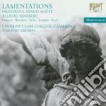 Lamentazioni cd musicale di Palestrina